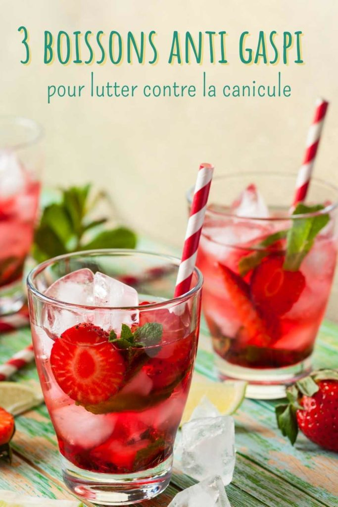 boisson anti gaspi fraise