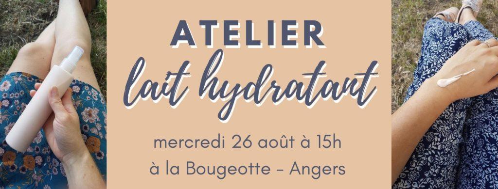 atelier lait hydratant la bougeotte angers