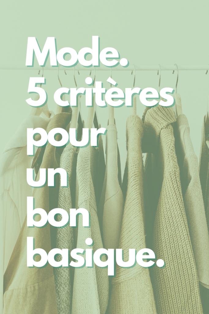 Basqiue mode minimaliste